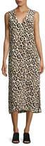 Equipment Connery Leopard-Print Silk Midi Dress