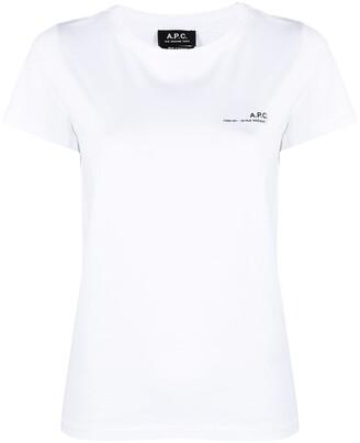 A.P.C. logo-print cotton T-shirt