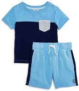 Splendid Infant Boys' Color-Block Pocket Tee & Shorts Set - Sizes 3-24 Months