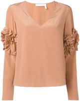 See by Chloe ruffle sleeve blouse - women - Silk/Viscose - 38