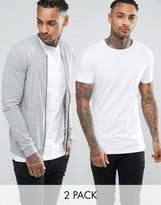 Asos Lightweight Muscle Jersey Bomber Jacket/ Muscle T-Shirt Set