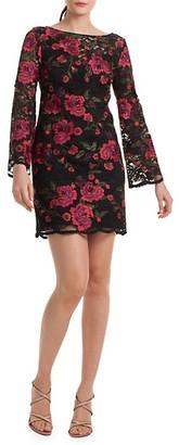 Trina Turk Floral Embroidery Sheath Dress