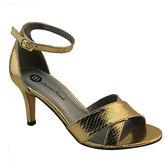 Michael Antonio Rees Metallic Snake Print Sandals