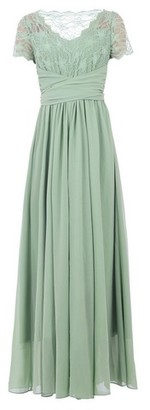 Dorothy Perkins Womens Jolie Moi Sage Lace Maxi Dress, Sage
