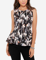 The Limited Printed Peplum Shell