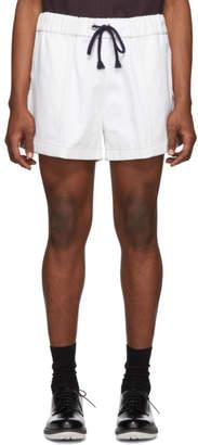 Daniel W. Fletcher White Drawstring Rugby Shorts