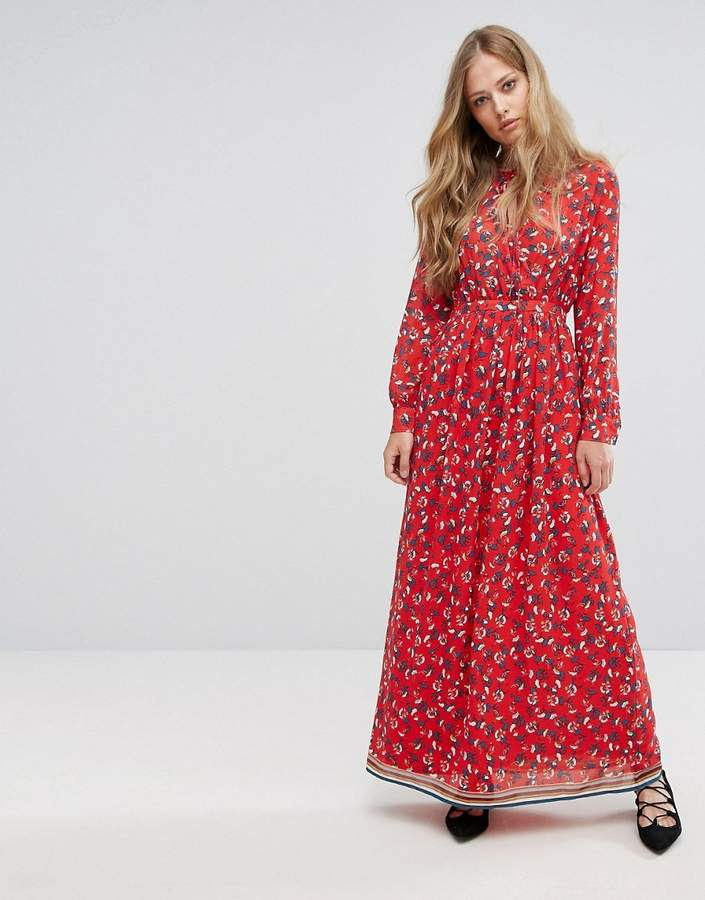 Suncoo Floral Maxi Dress