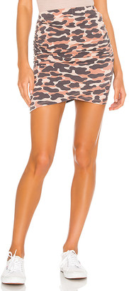 Monrow Animal Camo Skirt