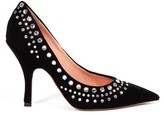 Rochas Crystal-embellished Velvet Pumps - Womens - Black
