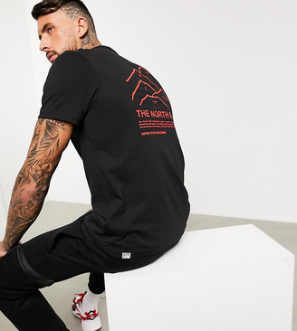 The North Face Peaks t-shirt in black Exclusive at ASOS
