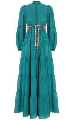 Zimmermann Fiesta Tiered Long Dress