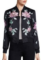 3x1 WJ Satin Collection Floral Embroidered Jacket