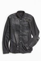 Urban Outfitters Stevens Destructed Denim Button-Down Shirt