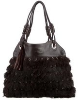Hogan Fur Shoulder Bag