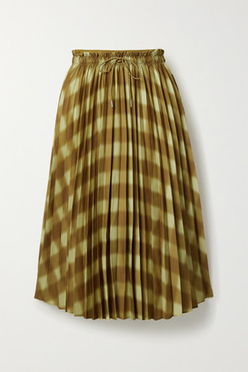 Proenza Schouler White Label Printed Pleated Crepe Midi Skirt - Pastel yellow