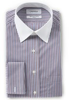 Daniel Cremieux Non-Iron Classic-Fit Point Collar Striped Dress Shirt