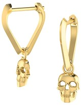 ICONERY x Andrea Linett 14K Yellow Gold Small Triangle Huggie Hoop Earrings with Skull Charms - 100% Exclusive