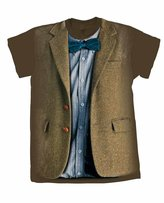 Doctor Who Matt Smith 11th Blue Bow Tie Mens Shirt (L)