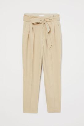 H&M Corduroy trousers & tie belt