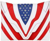 Elena Ghisellini Fatale Stars & Stripes Leather Clutch