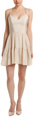 Amanda Uprichard Adeliade Silk A-Line Dress