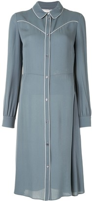Valentino Pre Owned Piping Detail Shirt Dress