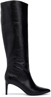Rag & Bone Beha Crinkled Glossed-leather Knee Boots