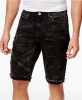 "Sean John Men's Straight-Fit Stretch Cutoff Denim Moto 12.5"" Shorts"