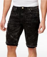 Sean John Men's Straight-Fit Stretch Cutoff Denim Moto 12.5and#034; Shorts