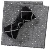 Original Penguin Charlotte Check Bow Tie & Pocket Square