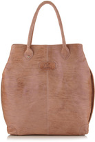 Gianfranco Ferre GF Large Washed Leather Tote Bag, Off White