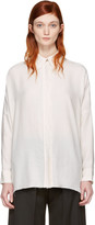 MM6 MAISON MARGIELA Ivory Raw Edge Shirt