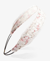 Forever 21 Embroidered Lace Floral Headwrap
