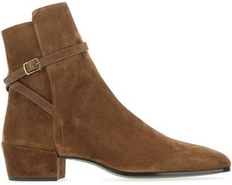 Saint Laurent Clementi Buckle Detail Boots