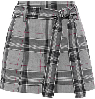 3.1 Phillip Lim Belted Prince Of Wales Checked Jacquard Shorts