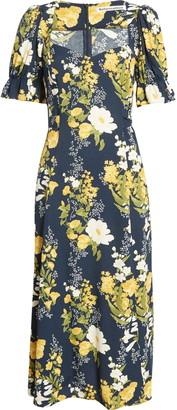 Reformation Dulcie Floral Short Sleeve Midi Dress
