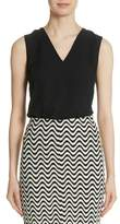 Yigal Azrouel Plunge Back Silk Top
