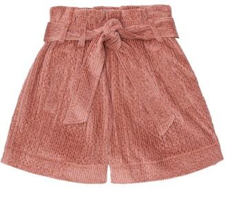 BRUNELLO CUCINELLI KIDS Corduroy paperbag shorts