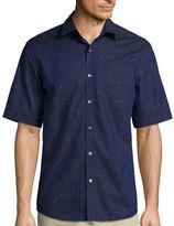 Claiborne Short-Sleeve Woven Sport Shirt