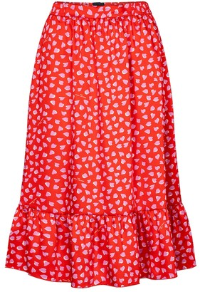 Marc Jacobs Heart-print midi skirt
