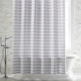 Crate & Barrel Skyline Grey Shower Curtain