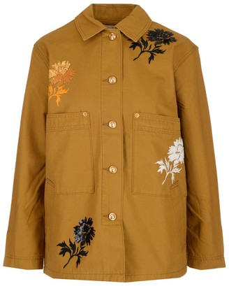 Tory Burch Floral Embroidered Jacket