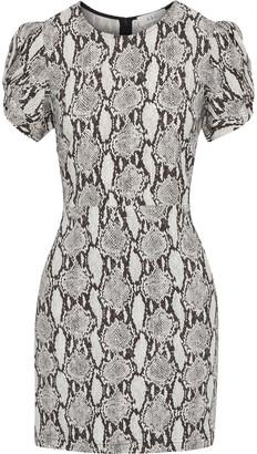 A.L.C. Brinley Twisted Snake-print Cady Mini Dress