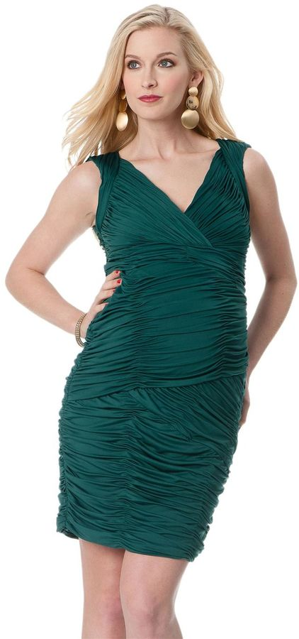A Pea in the Pod Ruched Maternity Dress