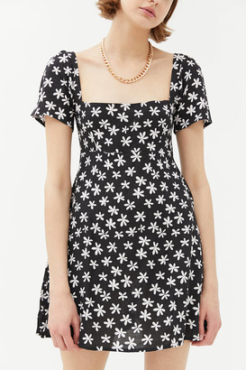Motel Thalia Square Neck Mini Dress
