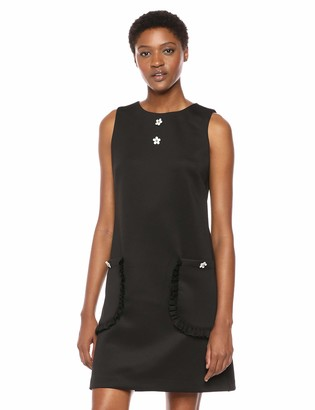 Betsey Johnson Women's Scuba Shift Dress with Pockets