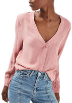 Topshop Cropped Slouchy Blouse