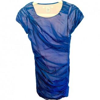 Diane von Furstenberg Blue Silk Dresses
