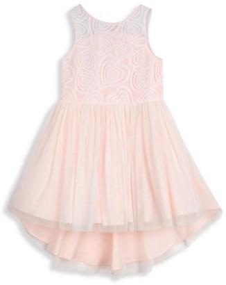 Pippa & Julie Little Girl's Heart Lace Ballerina Dress