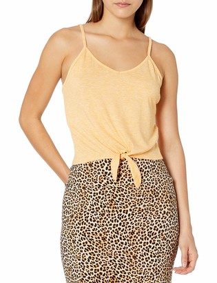 Tresics Women's Trendy Basic Junior Cropped Top with Front Knot Detail